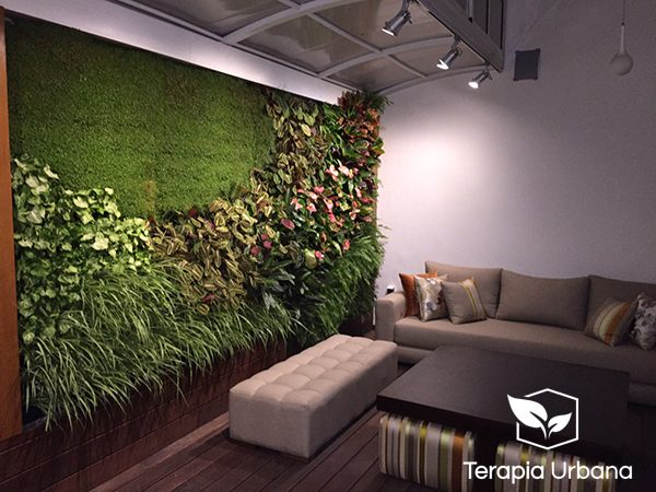 Jard n vertical interior en vivienda de marruecos for Jardin vertical interior