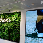 Living wall at the ASICS headquarters