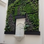 Outdoor living wall at a residential courtyard in Seville